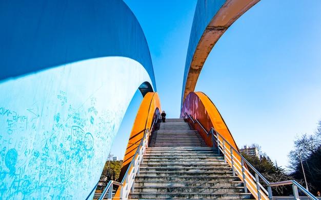 한국 광주의 다리 너머의 아름다운 풍경
