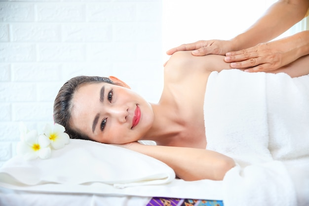 Beutiful woman with spa massage
