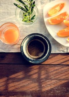 Beverage Orange juice and Coffee Break Relax
