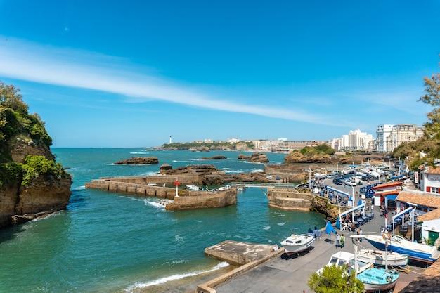 Biarritz marina on a summer afternoon