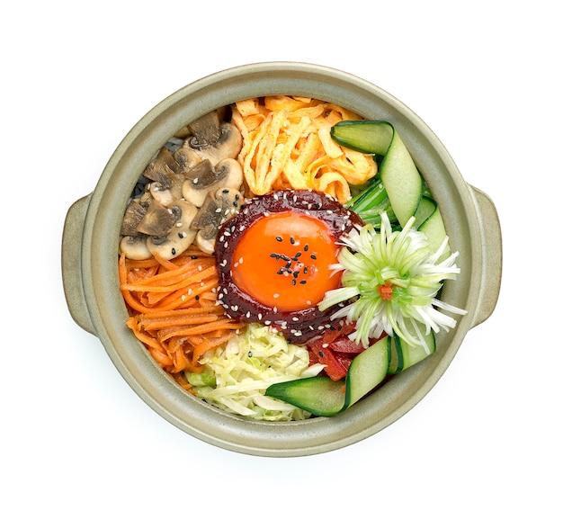 Bibimbub korean mixed rice assorted vegetables