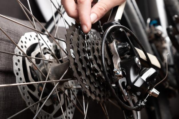 自転車チェーンの交換、マウンテンバイクサービス。