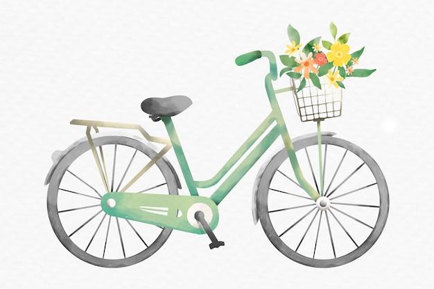 Bicycle delivering flowers design element