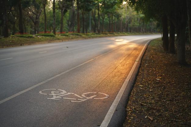Bicycle lane inside public university of thailand