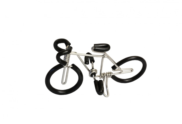 Bicycle model toy wire isolated