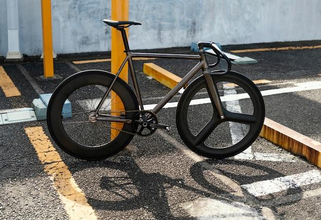 거리에서 야외 자전거