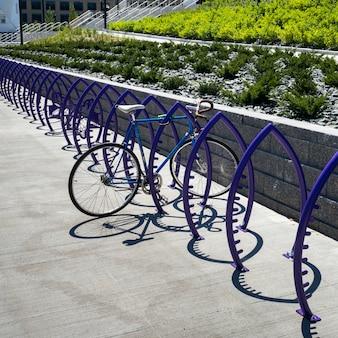 Bicycle parking rack, minneapolis, hennepin county, minnesota, usa