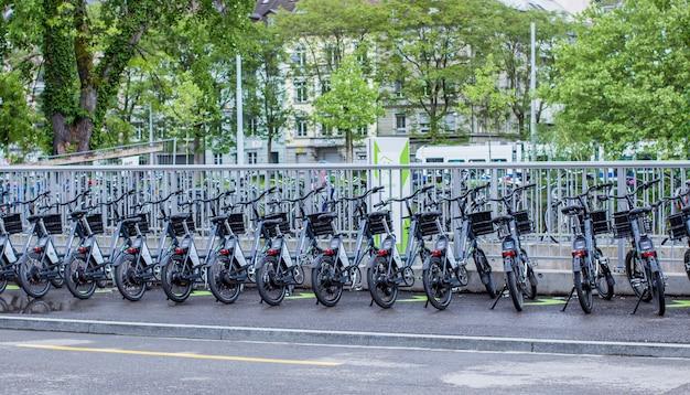 Bicycle parking in zurich
