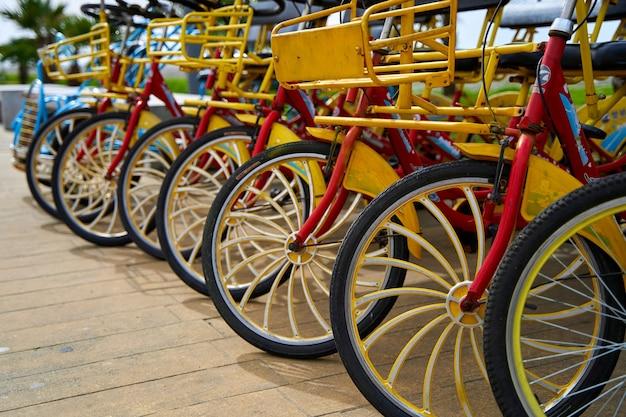 堤防沿いのサイクリング用自転車レンタル