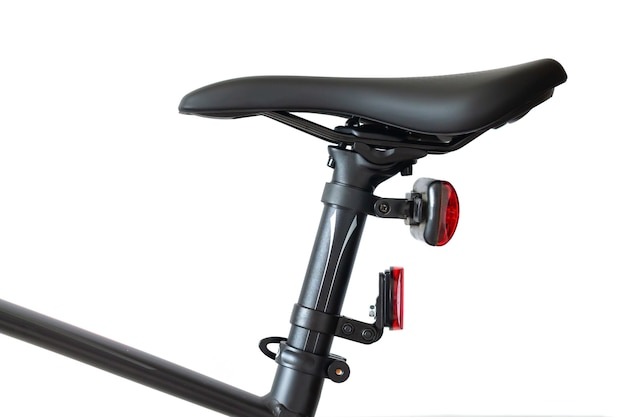 Bicycle seat or saddle and seatpost isolated