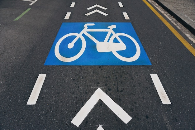 Bicycle traffic signal in the street
