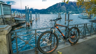 Bicycle With Boat Sea Port