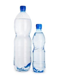 大小の青いボトル
