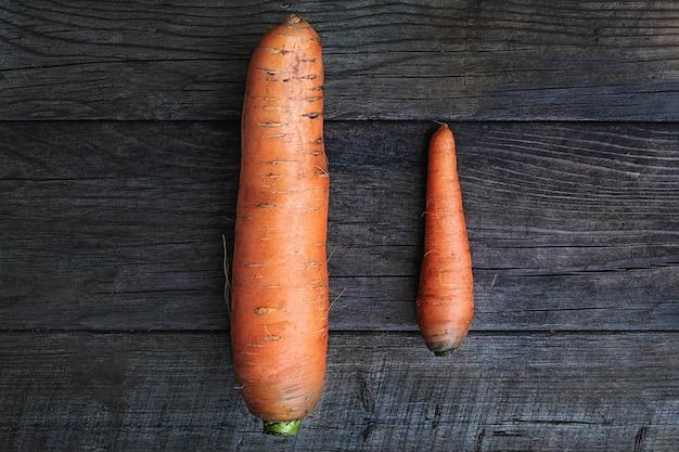 Большая и маленькая морковь как символ соперничества и мужского самоуважения.