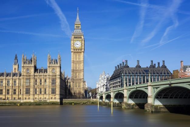 Биг бен и здание парламента, лондон, великобритания