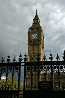 Big ben behind the gates