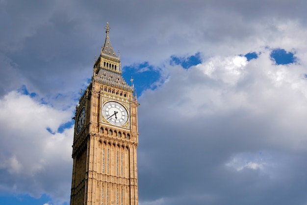 Big ben and westminster abbey in london, england
