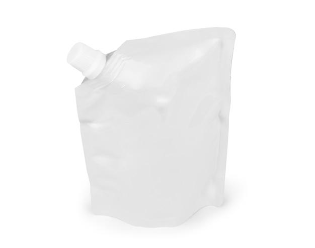 Большой пустой пластиковый пакет с носиком для соуса, майонеза, кетчупа, напитков, детского питания или косметики