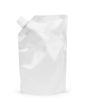 Big blank plastic spouted pouch for sauce, mayonnaise, ketchup, beverage, baby food or cosmetic