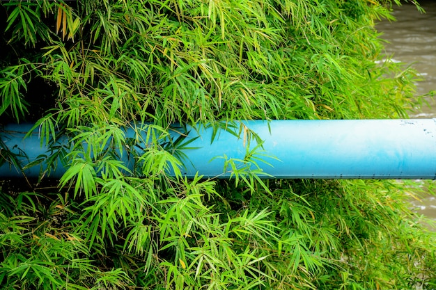 Big blue metal pipe