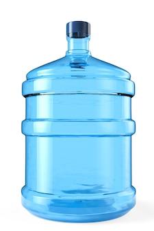 Большая бутылка питьевой воды на белом фоне