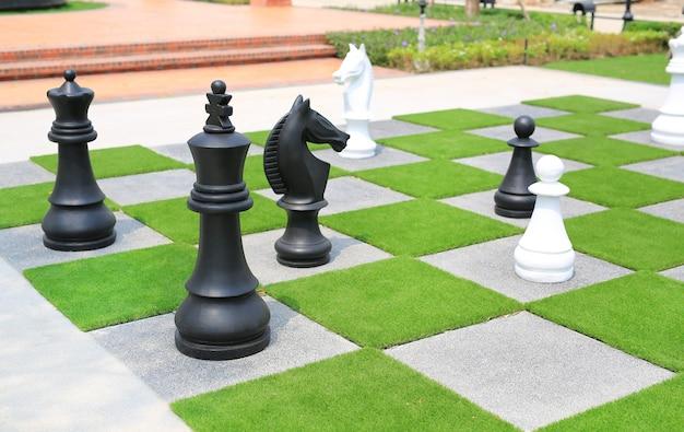 Big chess piece decorative in the garden