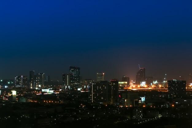 Big city at night