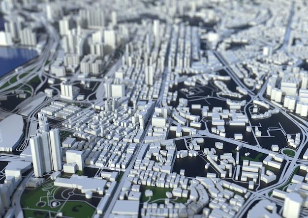 大都市の上面図。カジュアルなグラフィックデザインのイラスト。フラグメント香港
