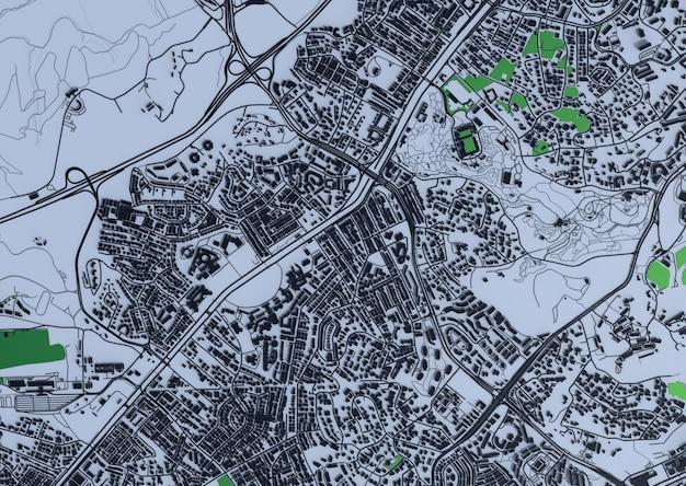 大都市の上面図。カジュアルなグラフィックデザインのイラスト。シンガポールの断片