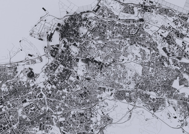 큰 도시 최고 볼 수 있습니다. 캐주얼 그래픽 디자인의 그림입니다. 싱가포르 조각