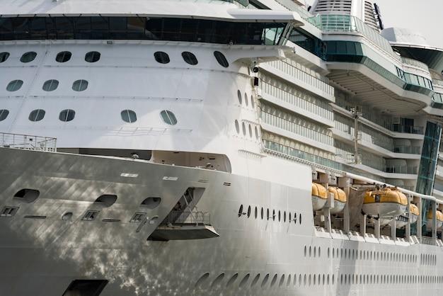 Big cruise ship closed up