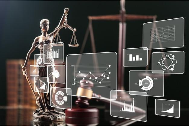 Big data law justice analytics concept