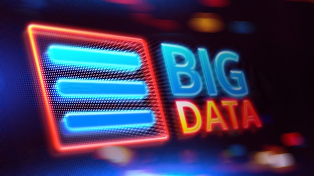 Big data on led display.