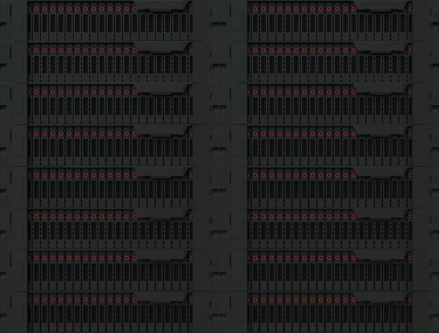 빅 데이터 서버 장비 데이터베이스 컴퓨터 저장 비즈니스 개념 슈퍼 컴퓨터 근접 촬영