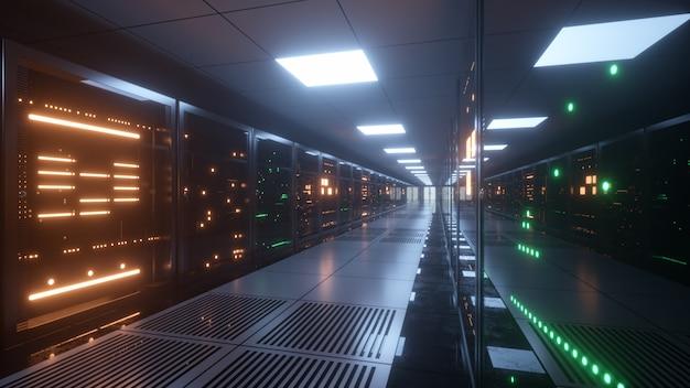 Big data servers shiny corridor