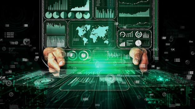 Big data technology for business finance conceptual.