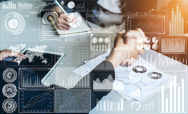 비즈니스를위한 빅 데이터 기술. 재무 분석, 비즈니스 판매 보고서의 방대한 정보.