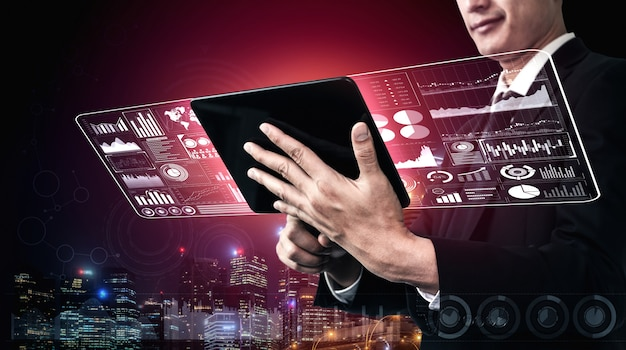 Большая технология данных для концепции финансов дела.