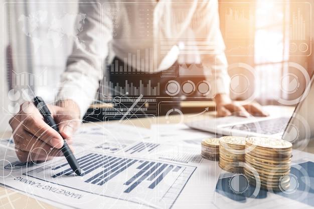 사업 금융 개념에 대 한 빅 데이터 기술입니다.