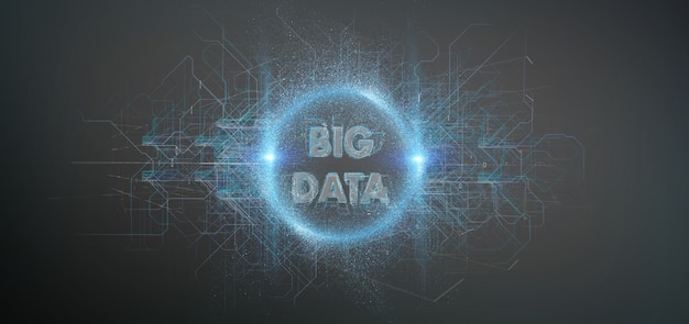 Big data title isolated on a background