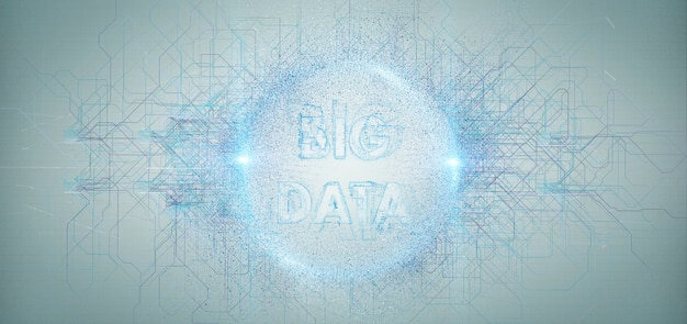 Big data title isolated