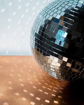 Big disco ball on floor