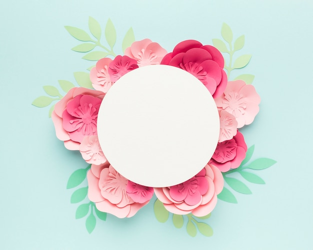Big elegant floral paper decoration