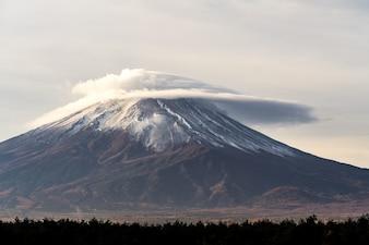 Big Fuji mountain in japan, morning sky in autumn.