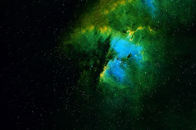 Big green galaxy. elements of this image were furnished by nasa. high quality photo