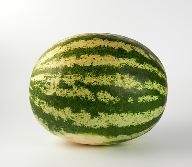 Big green striped whole watermelon