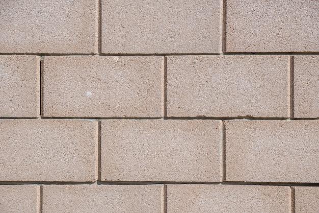 큰 회색 콘크리트 벽돌 벽 질감 배경, 산업의 재료.