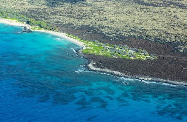 空から見たハワイ島