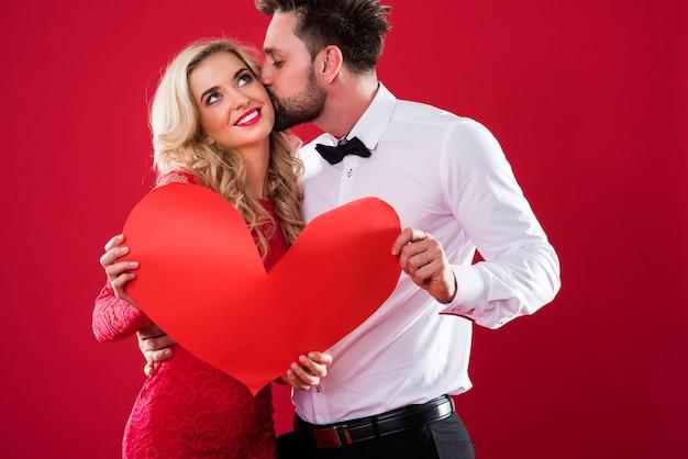 Un grande bacio dall'amato fidanzato