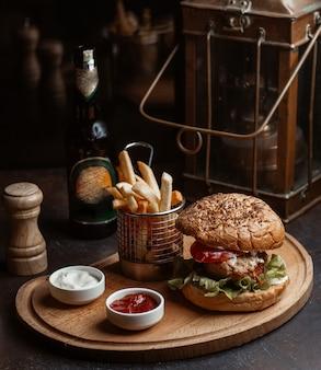 Big mac menu, metallic rustic cage and candle